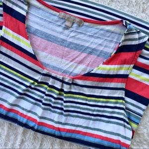 Banana Republic striped cotton tank top size small